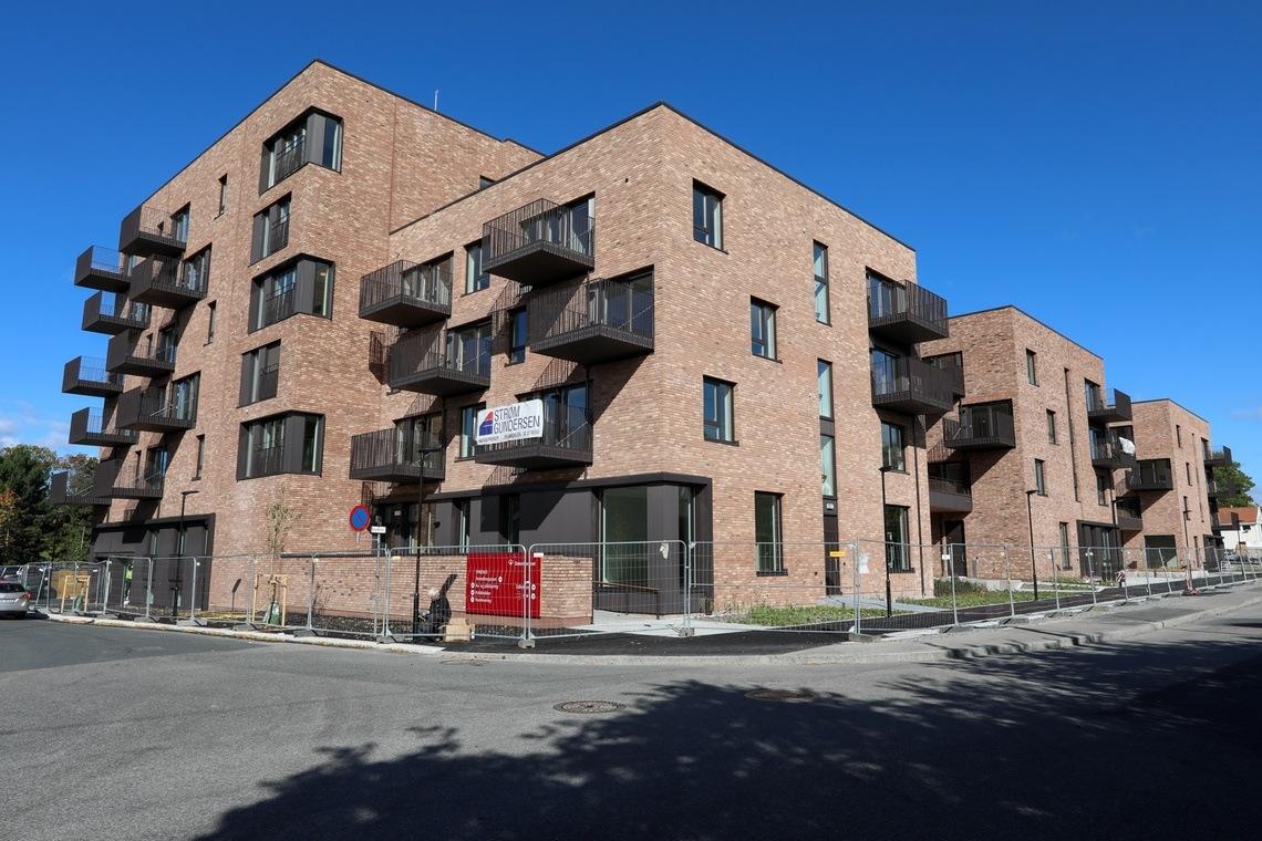 Slik ser bygget ut fra krysset Borgenveien/Diakonveien.
